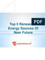 Top 5 Renewable Energy Sources of Near Future