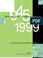 Cohre - The Human Right to Adequate Housing 1945-1999