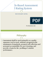 Assessment and Rating System -K to 12