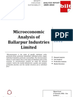 Microeconomic Analysis of Ballarpur Industries Limited