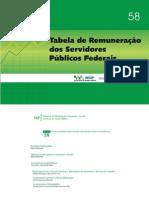 Tabela Remuneração Federal-2011
