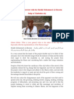 Sahara Media Interview With the Sheikh Mohammed Al-Hussein Judge of Timbuktu City