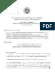 Examen Algebra Lineal 1ere Parcial 2012