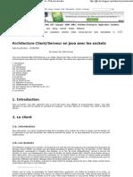 Architecture Client_Serveur Java