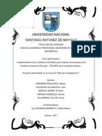 Proyecto FECOPE Prueba