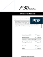Roland F-50 Owner's Manual