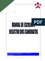 MANUAL DE ESCOLHA E REGISTRO DE CANDIDATOS