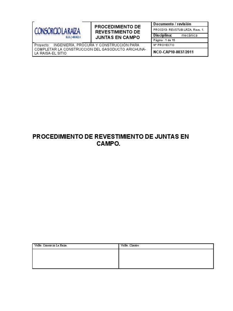 Proc013 Revstub Lrza Mangas Termocontractiles