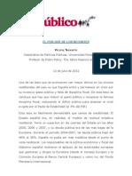 Vicenç Navarro, El por qué de los recortes