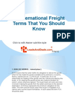 13 International Freight Terms That You Should Know