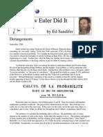 How Euler Did It 11 Derangements