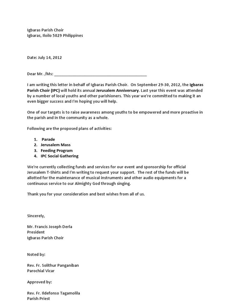 Igbaras parish choir solicitation letter jerusalem anniversary 2012 thecheapjerseys Image collections