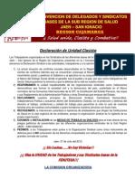 Declaración de Unidad Clasista_JAEN 2012