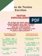 TEXTOS ESPECIALIZADOS