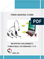 Voice Master x1000 Manual