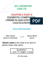 Chap 2 - Part 2 - Elements, Compounds, Chemical Equations and Calculations