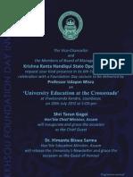 Foundation Day Invitation