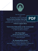 Foundation Day Invitation