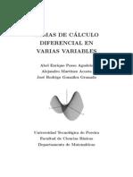 TEMAS DE CALCULO DIFERENCIAL EN VARIAS VARIABLES