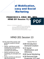 HPAD 201 Session 13 Sep 15 SocMob, Advocacy and Social Marketing
