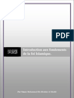 Introduction aux fondements de la foi Islamique