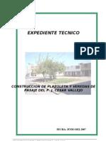 Construccion Plazoleta y Veredas de Pasaje Del p. j. Cesar Vallejo _Tacna