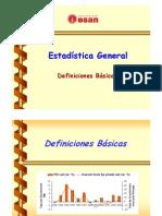 Definiciones Basicas de Estadistica General