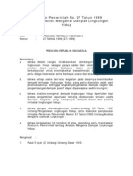 PP 27 Tahun 1999 Ttg Analisis Mengenai Dampak Lingkungan