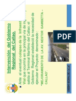 """Proyecto Vial """"Mejoramiento de la Av. Gambetta"""""""
