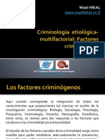 Factores criminógenos