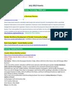 Afidence Events Lists -- July 2012