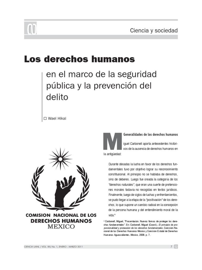 Los derechos humanos en el marco de la seguridad pública