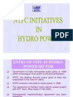 NTPC Initiatives in Hydropower