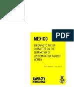 Έκθεση της Διεθνούς Αμνηστίας για την κακοποίηση γυναικών στο Μεξικό