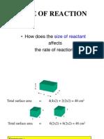 Size of Reactant