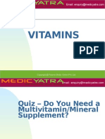 Vitamins & Mineral Supplement Treatment