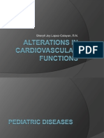 Alterations in Cardiovascular Functions