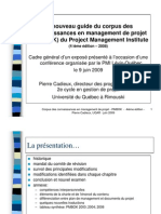 Corpus Des Connaissances PMI 4 Edition v3
