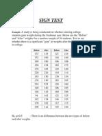 Non Parametric Methods