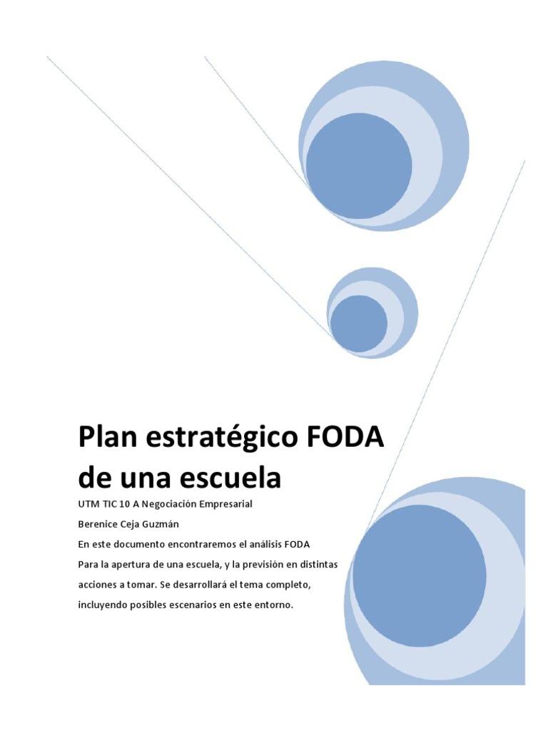Plan estratégico FODA