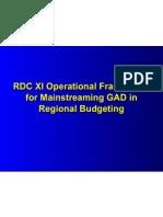 GAD Budgeting Framework