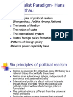 The Realist Paradigm- Hans Morgenthau