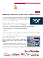Outsourcing Product Design for India Entry - A Strategic Approach