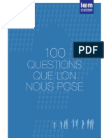100 questions que l'on nous pose