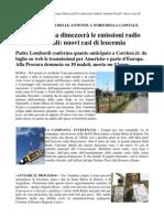 2012 - giugno 12 - Corriere.it - Radio Vaticana dimezzerà le emissioni radio. I comitati locali, nuovi casi di leucemia
