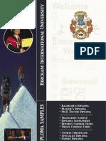 BIU Diploma Samples