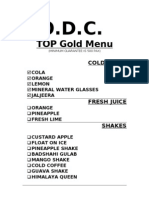 GOLD MENU - TOP F&B CATERING