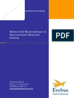 Review of the Recent Literature on Socio-Economic Status and Learning