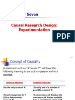 Causal Research Design - Experimentation