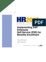 Implementing ESS for Benefits Enrollment